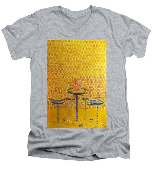The Honey Of Lives Men's V-Neck T-Shirt by Lazaro Hurtado