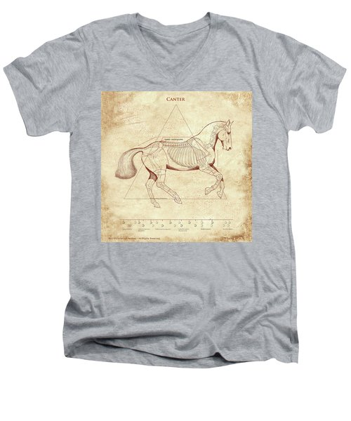 The Horse's Canter Revealed Men's V-Neck T-Shirt by Catherine Twomey