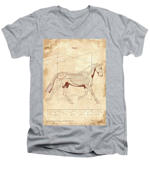 The Horse's Trot Revealed Men's V-Neck T-Shirt by Catherine Twomey
