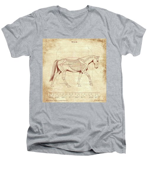 The Horse's Walk Revealed Men's V-Neck T-Shirt by Catherine Twomey