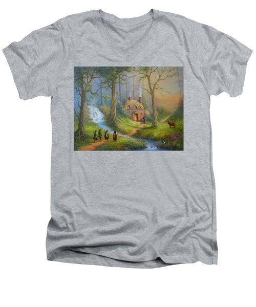 The House Of Tom Bombadil.  Men's V-Neck T-Shirt by Joe  Gilronan