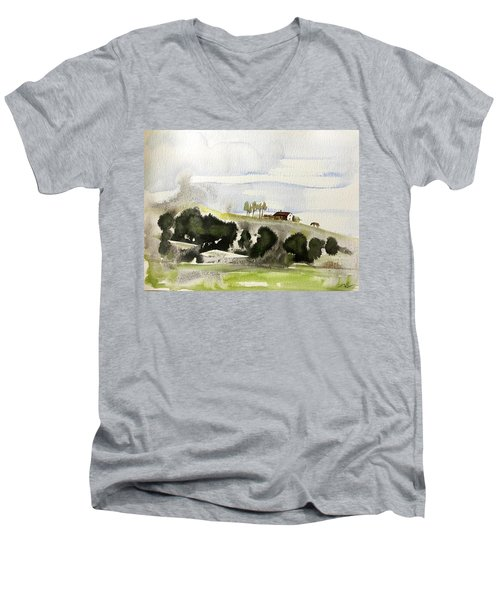 The House On The Hill Men's V-Neck T-Shirt