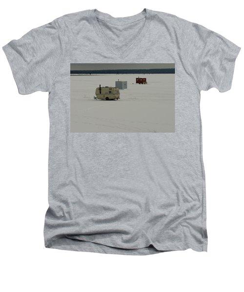 The Huts Men's V-Neck T-Shirt