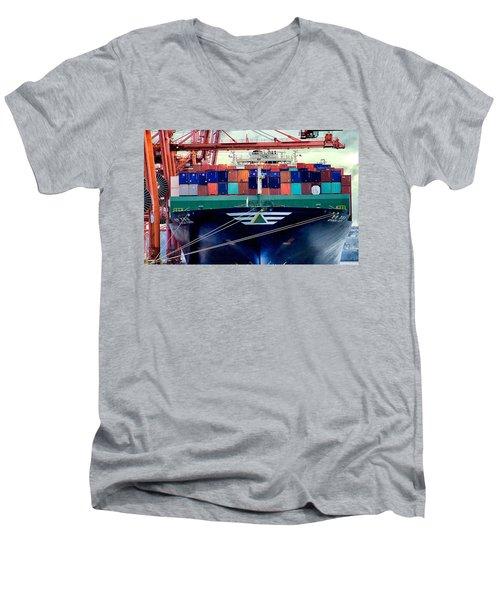 The Hyundai Faith Seattle Washington Men's V-Neck T-Shirt