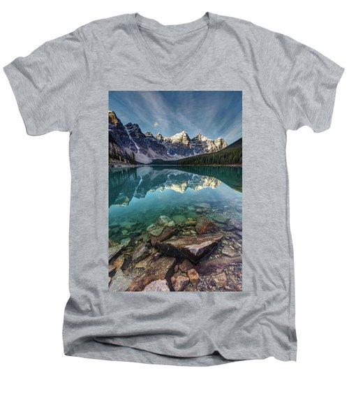 The Iconic Moraine Lake Men's V-Neck T-Shirt