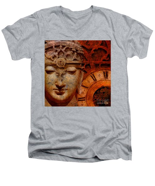 The Illusion Of Time Men's V-Neck T-Shirt by Christopher Beikmann