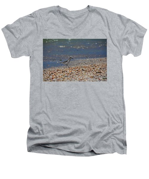 Men's V-Neck T-Shirt featuring the photograph The Intellectual I by Michiale Schneider