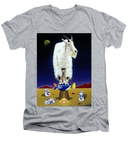 The Intoxicated Mountain Goat Men's V-Neck T-Shirt