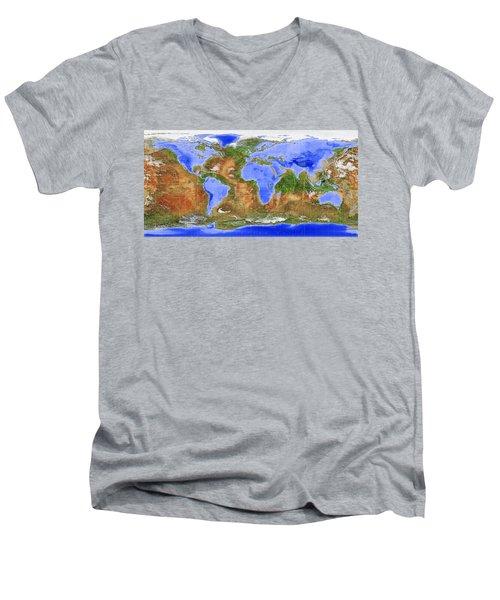 The Inverted World Men's V-Neck T-Shirt