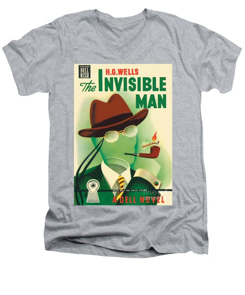 The Invisible Man Men's V-Neck T-Shirt by Gerald Gregg