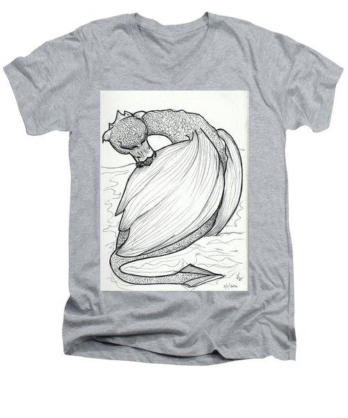 The Itch Men's V-Neck T-Shirt by Loretta Nash