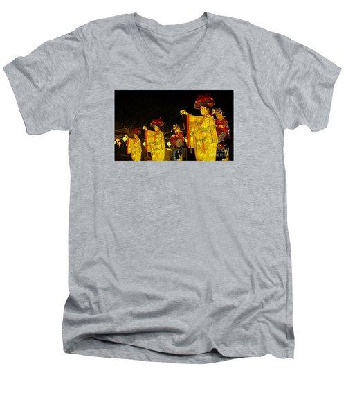 The Japanese Lantern Dancers Men's V-Neck T-Shirt