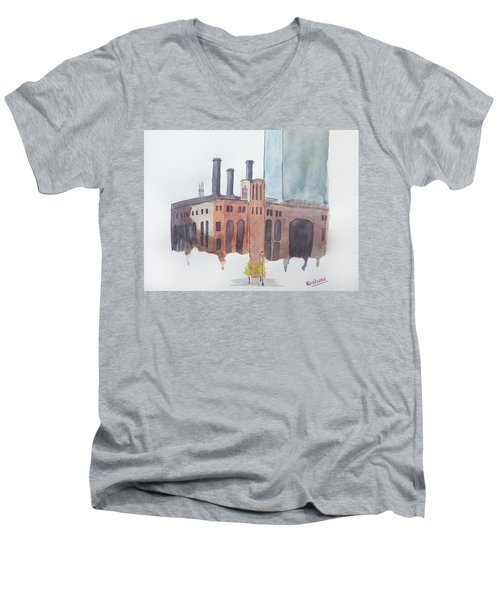 The Jersey City Powerhouse Men's V-Neck T-Shirt