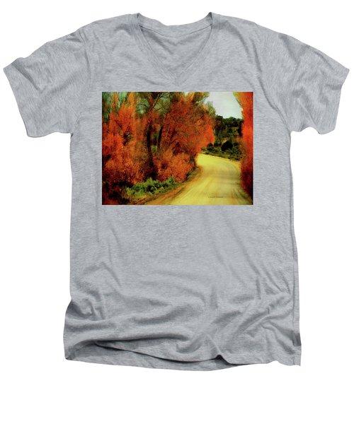 The Journey Home Men's V-Neck T-Shirt by Lenore Senior