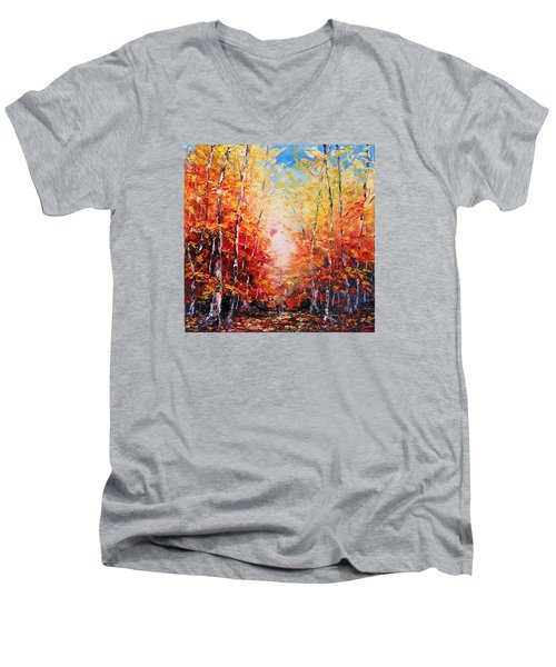The Joy Ahead Men's V-Neck T-Shirt by Meaghan Troup