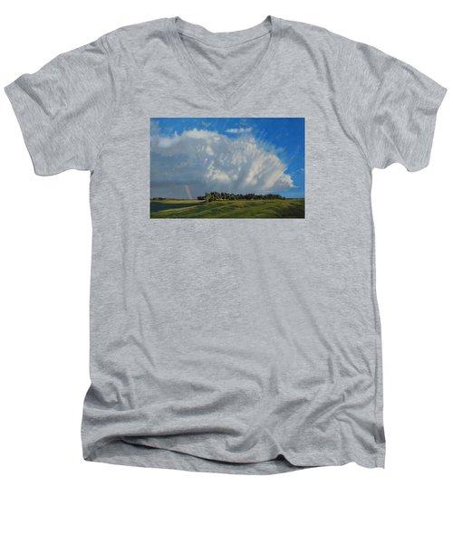 The June Rains Have Passed Men's V-Neck T-Shirt by Bruce Morrison