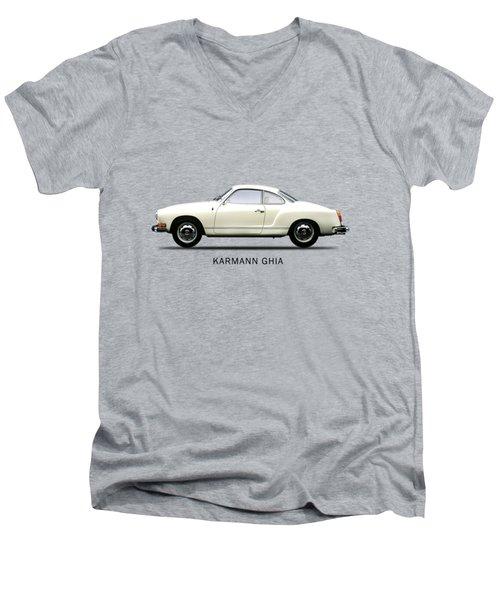 The Karmann Ghia Men's V-Neck T-Shirt by Mark Rogan