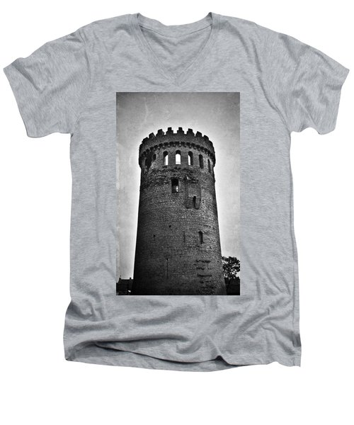 The Keep At Nenagh Castle In Nenagh Ireland Men's V-Neck T-Shirt