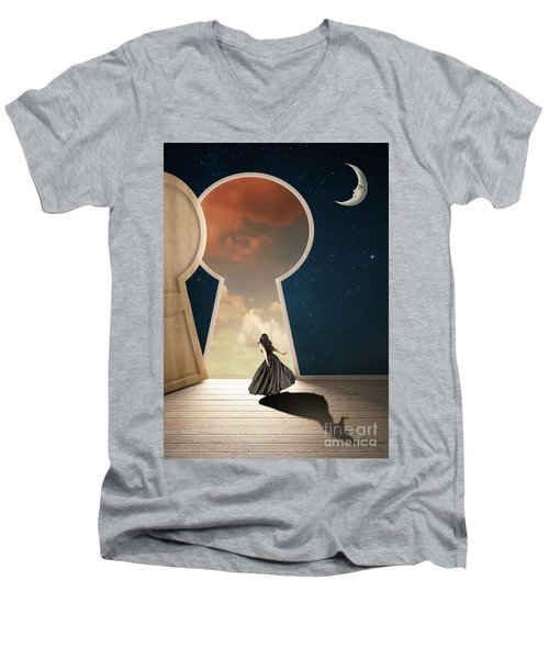 Curiouser And Curiouser Men's V-Neck T-Shirt