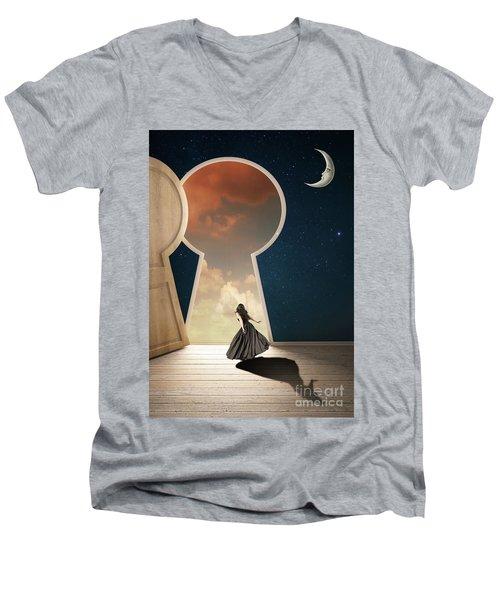 Curiouser And Curiouser Men's V-Neck T-Shirt