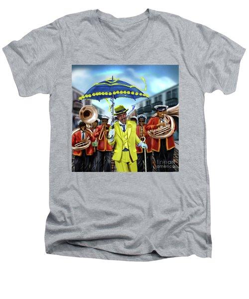 The Kingman  Men's V-Neck T-Shirt
