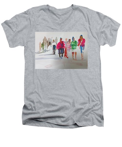 The Ladies Men's V-Neck T-Shirt by P Anthony Visco