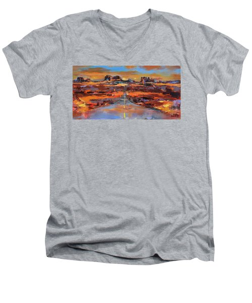 The Land Of Rock Towers Men's V-Neck T-Shirt