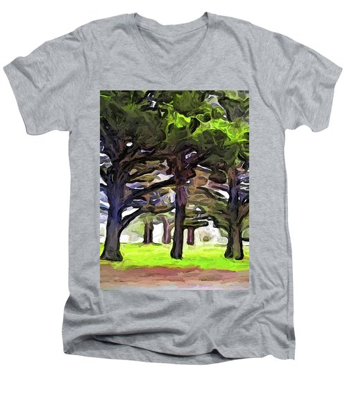 The Landscape With The Leaning Trees Men's V-Neck T-Shirt