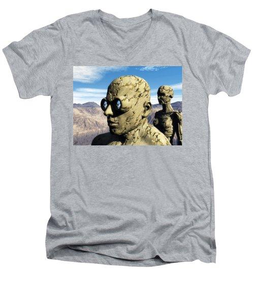 The Last Elementals Awaiting Their Doom Men's V-Neck T-Shirt by John Alexander