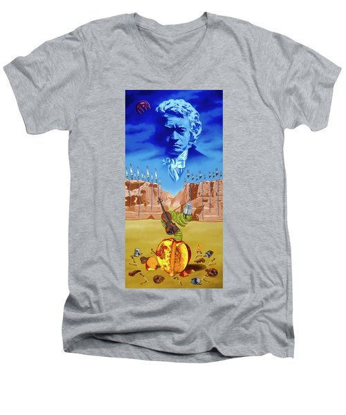 The Last Soldier An Ode To Beethoven Men's V-Neck T-Shirt