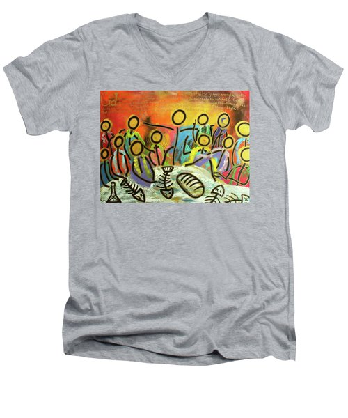 The Last Supper Recitation Men's V-Neck T-Shirt