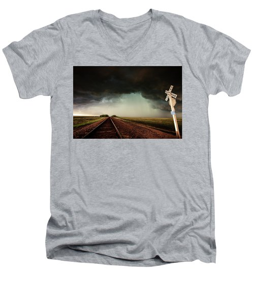 The Last Train To Darksville Men's V-Neck T-Shirt