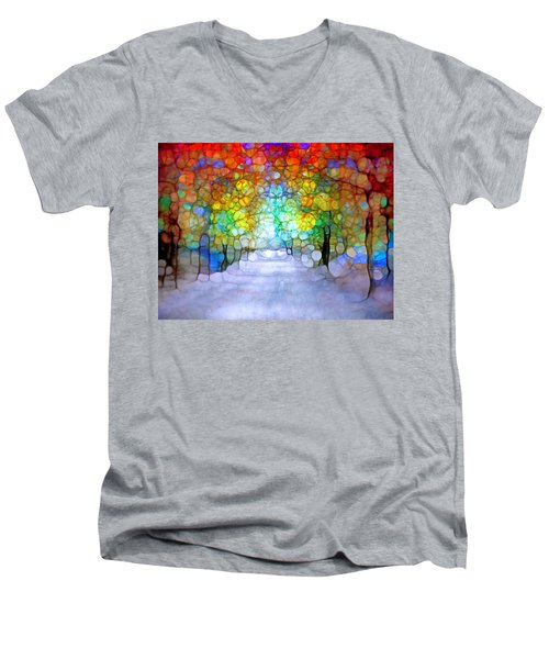 The Laughing Forest Men's V-Neck T-Shirt