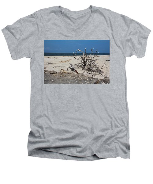 Men's V-Neck T-Shirt featuring the photograph The Laws Of Gravity by Michiale Schneider