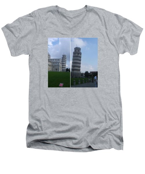 The Leaning Tower Of Pisa Men's V-Neck T-Shirt by Patsy Jawo