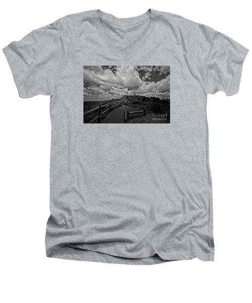 Men's V-Neck T-Shirt featuring the photograph The Light House by Gary Bridger