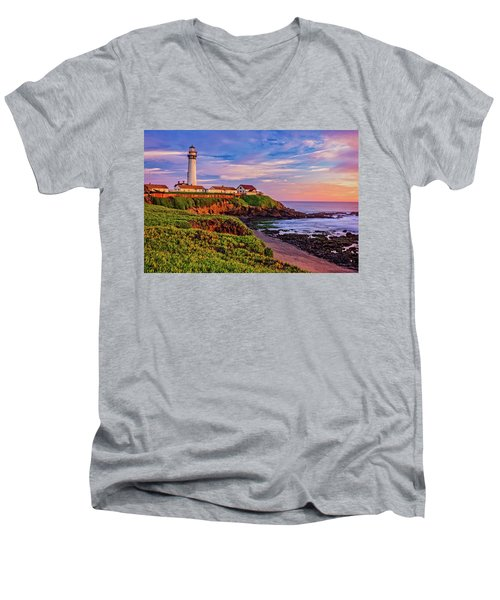 The Light Of Sunset Men's V-Neck T-Shirt