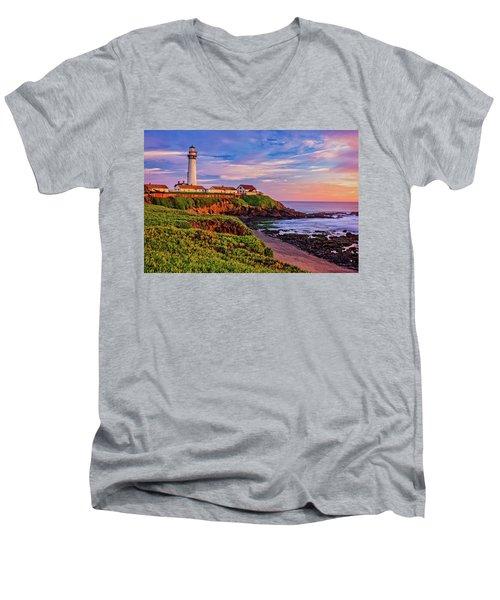 The Light Of Sunset Men's V-Neck T-Shirt