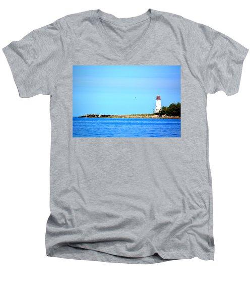 The Lighthouse At Sea Men's V-Neck T-Shirt