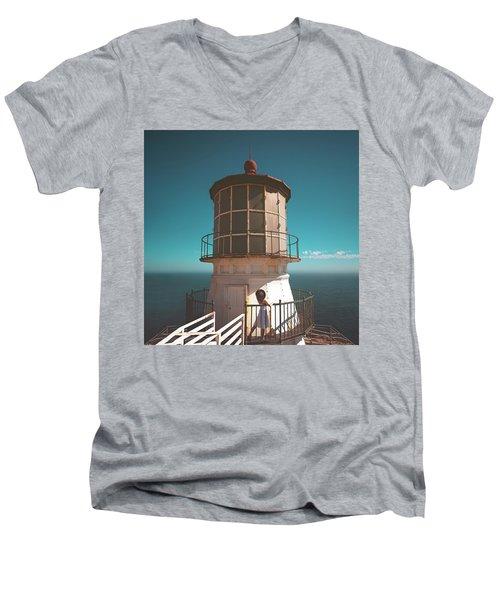 The Lighthouse Men's V-Neck T-Shirt