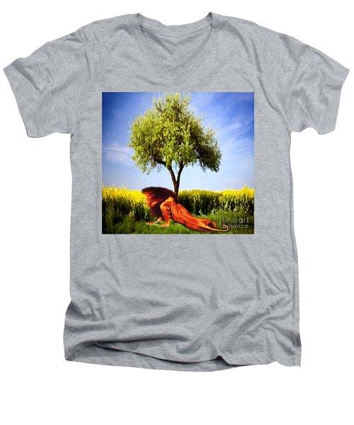 The Lion, The King Men's V-Neck T-Shirt