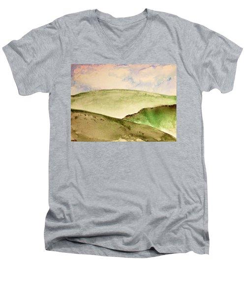 The Little Hills Rejoice Men's V-Neck T-Shirt