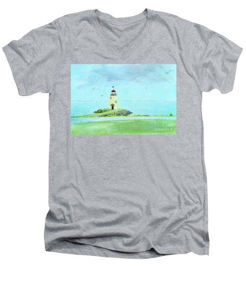 The Little Lighthouse That Could Men's V-Neck T-Shirt