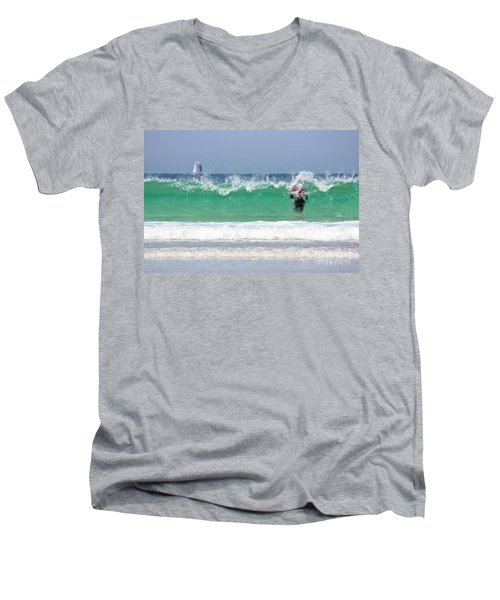 Men's V-Neck T-Shirt featuring the photograph The Little Mermaid by Terri Waters