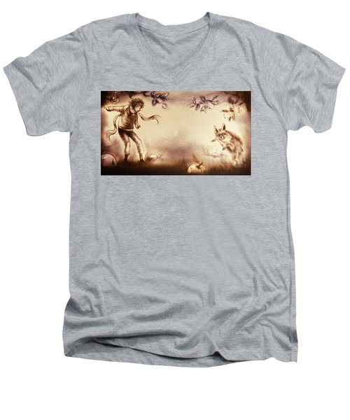 The Little Prince And The Fox Men's V-Neck T-Shirt