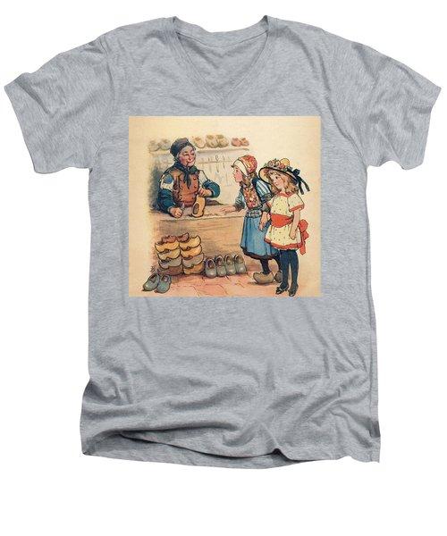 The Little Wooden Shoe Maker Men's V-Neck T-Shirt