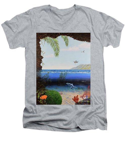 The Living Ocean Men's V-Neck T-Shirt