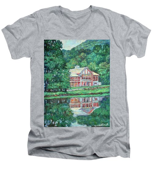 The Lodge At Peaks Of Otter Men's V-Neck T-Shirt