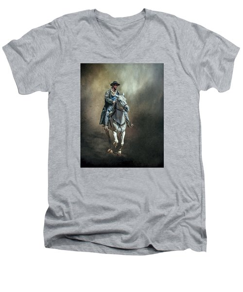 Men's V-Neck T-Shirt featuring the photograph The Lone Drifter by Brian Tarr