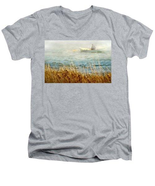 The Lone Rower Men's V-Neck T-Shirt